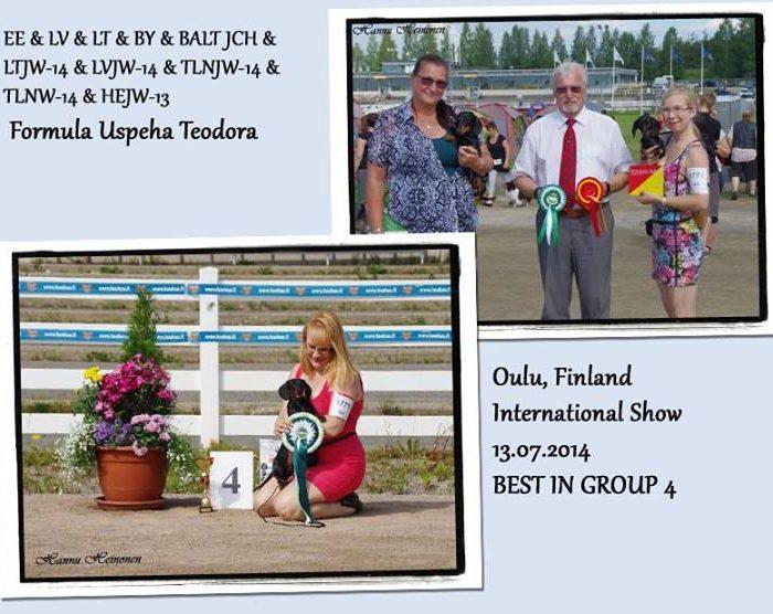 Formula Uspeha Teodora - CAC, CACIB, BOB, 4-Best in Group