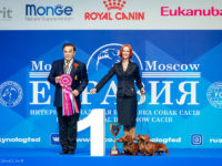 "06.05.2018. Russia. Moscow. International dog show ""Eurasia-2 - Formula Uspeha Top Gear - CAC, CACIB, CH RKF, CH Eurasia, BOB, 1-Best in Group! & 3-Best Progeny"